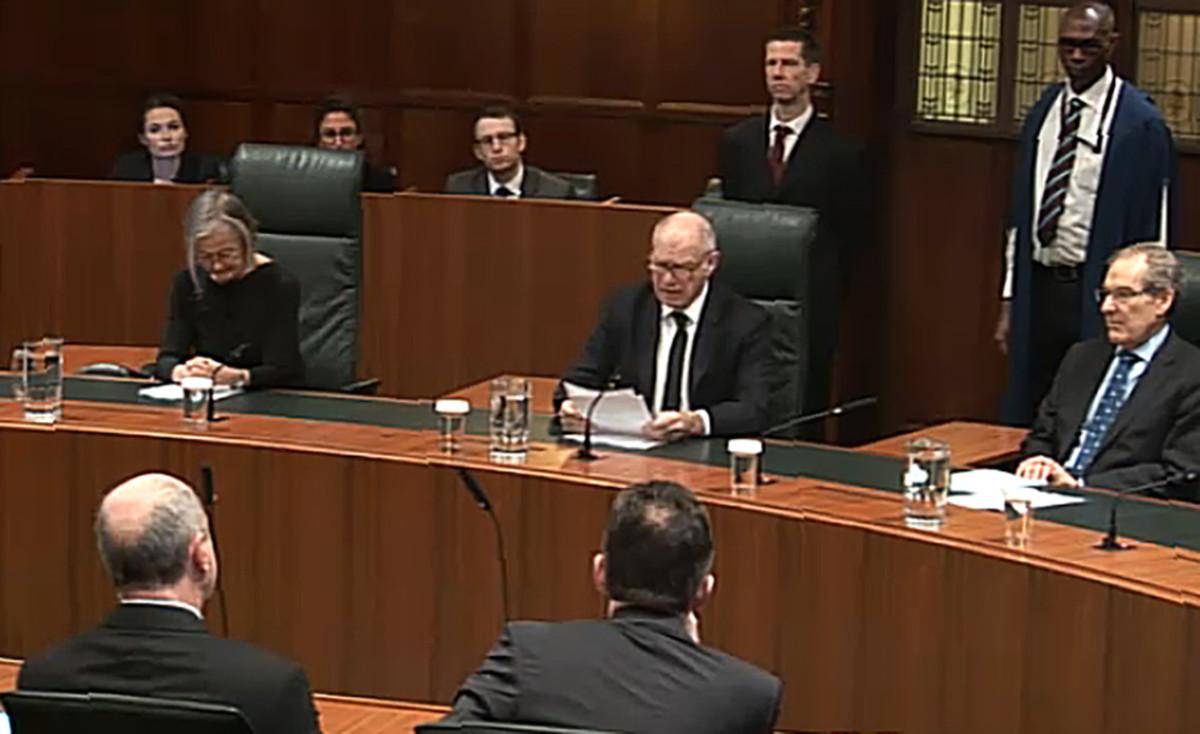Miembros del Tribunal Supremo británico en el momento de la lectua de su sentencia sobre el brexit.