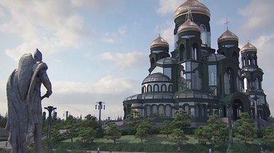 Una nova església gegant emergeix a l'horitzó de Moscou