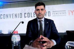 El presidente de AFE, David Aganzo, en un acto el pasado mes de octubre.