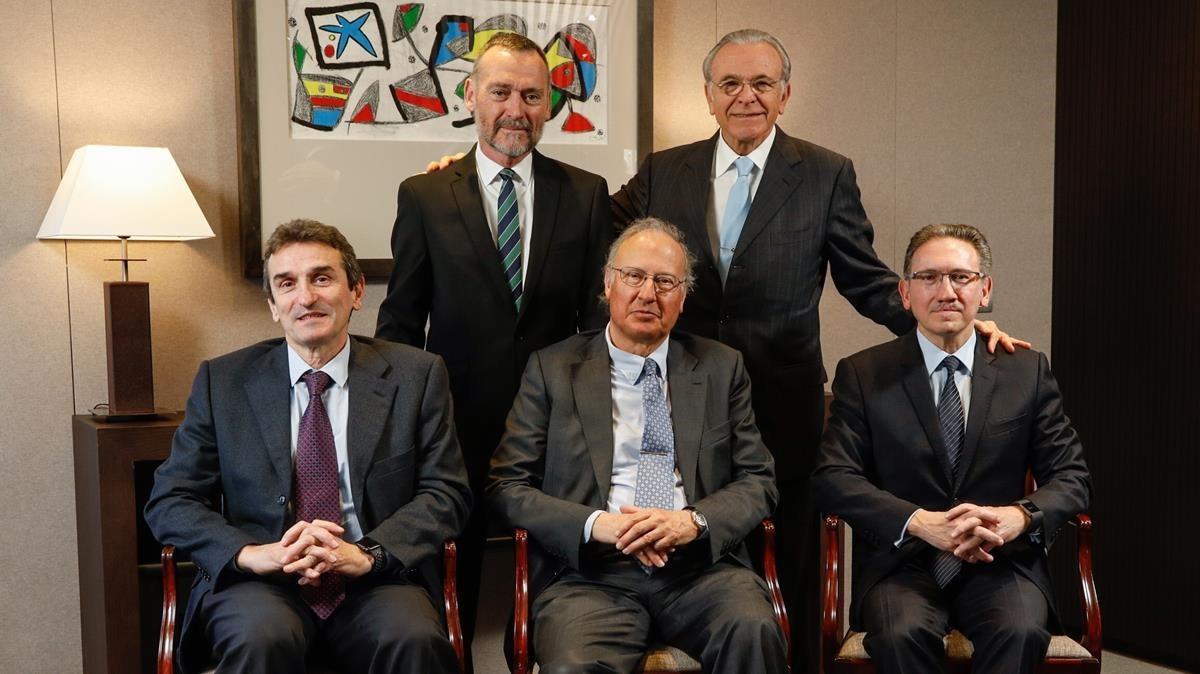 De Pie: Javier Paso e Isidro Faine. Sentados: MarcelinoArmenter, Alejandro Garcia-bragado y Jaume Giró.