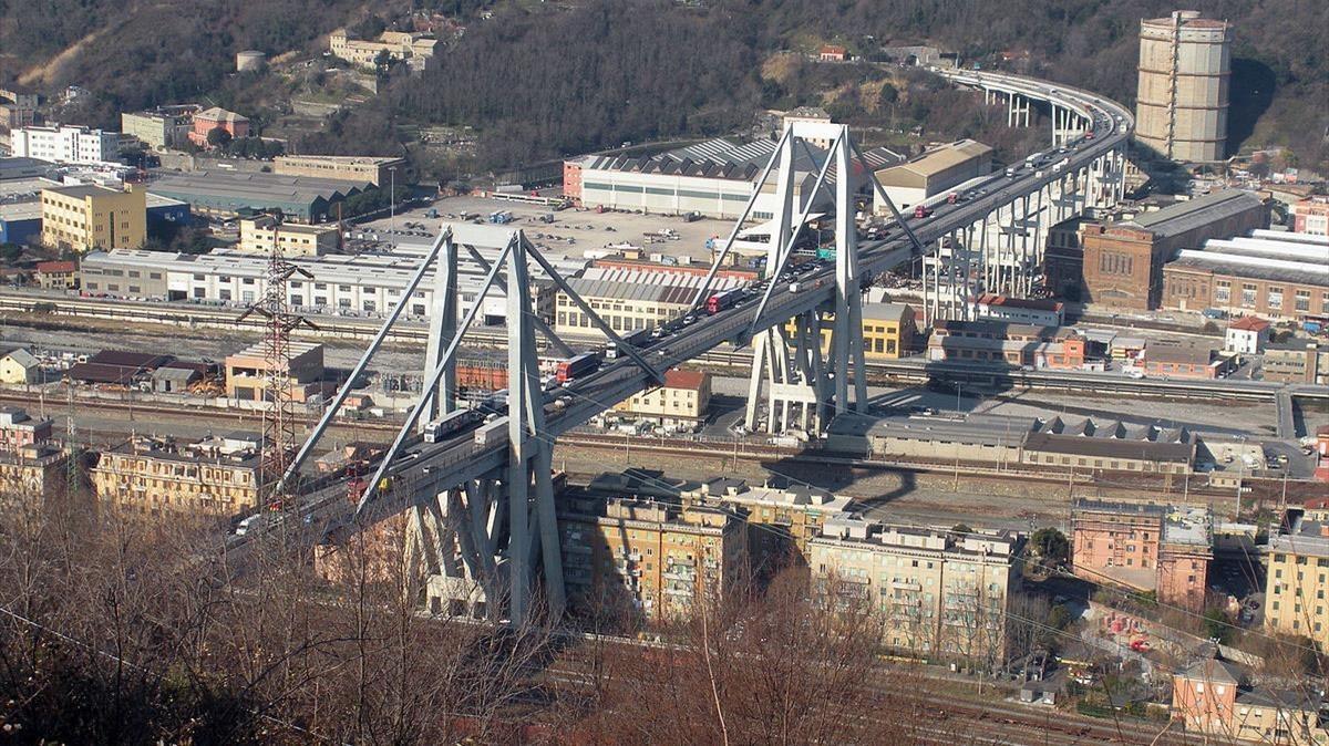 Així era el pont Morandi, que s'ha esfondrat sobre Gènova