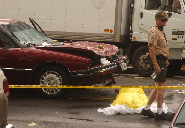 Accidente de tráfico en Santa Mónica, California.