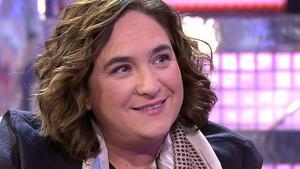 Ada Colau, durante su entrevista en Sálvame Deluxe.