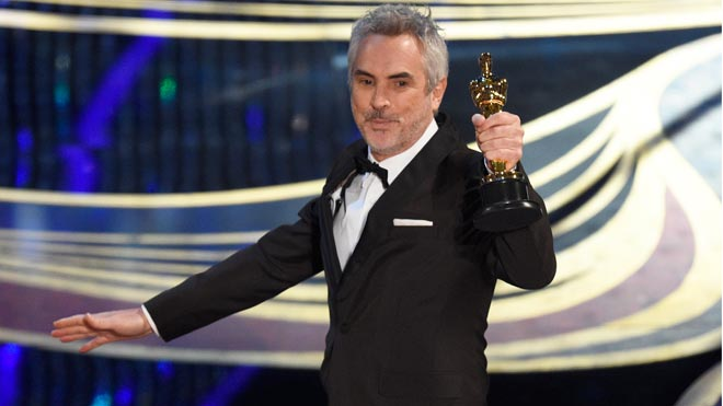 Alfonso Cuarón se lleva el Oscar a mejor dirección por Roma.