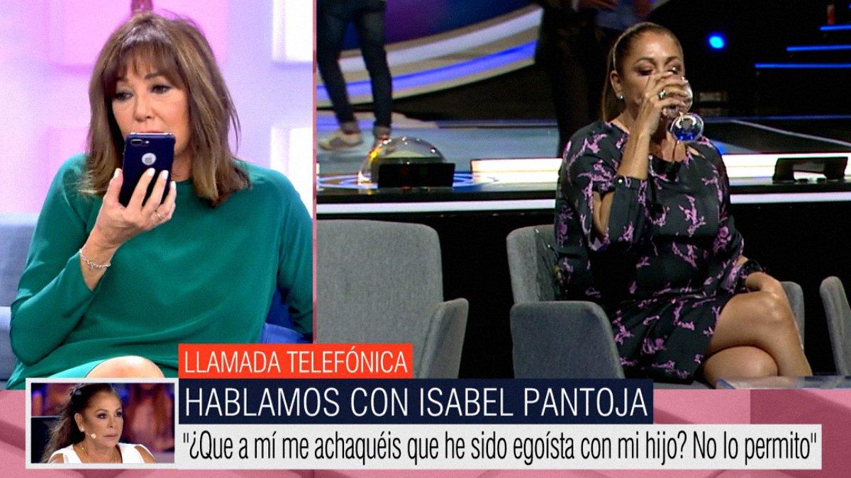 """Isabel Pantoja llama en directo a Ana Rosa y estalla: """"Estoy cansada de escuchar tantas mentiras"""""""
