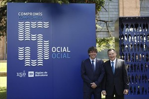 Aniversario de Agbar 8Carles Puigdemont (izquierda) y Àngel Simón.