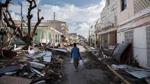 Aspecto de Saint Martin tras el paso del huracán 'Irma'.