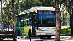 Un autobús de Sant Cugat del Vallès.