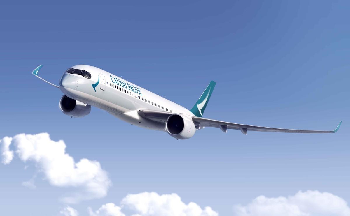 El avión A350-900 de Cathay Pacific.