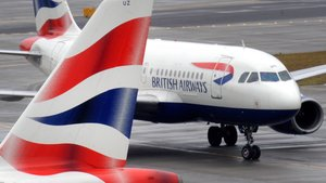 Aviones de British Airways en el aeropuerto de Heathrow.