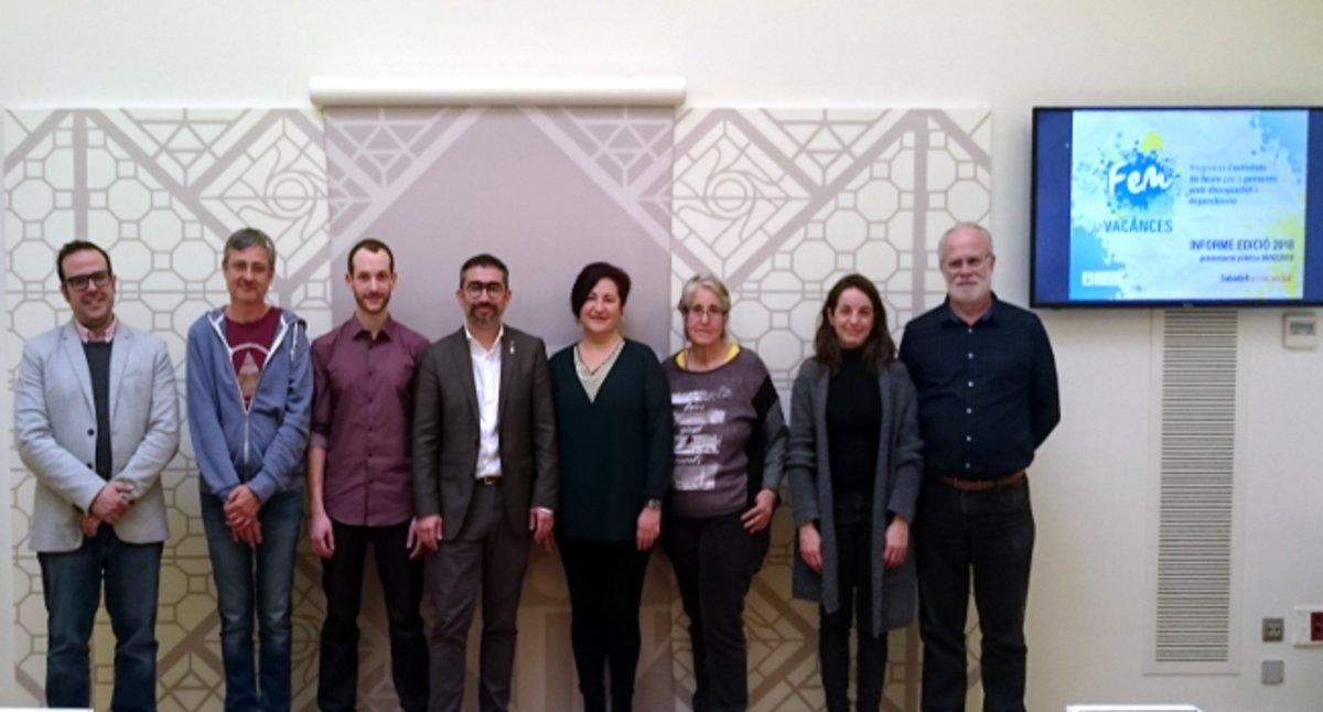 El Ayuntamiento de Sabadell y las entidades hacen balance del programa Hacemos Vacaciones.