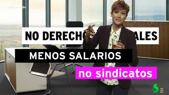 Sara Escudero debutó en 'El intermedio'.