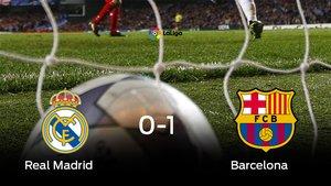 El Barcelona se impone por 0-1 al Real Madrid