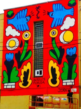 L'hospitalenc Jericó Delayah transforma en art una façana de Blocs Florida