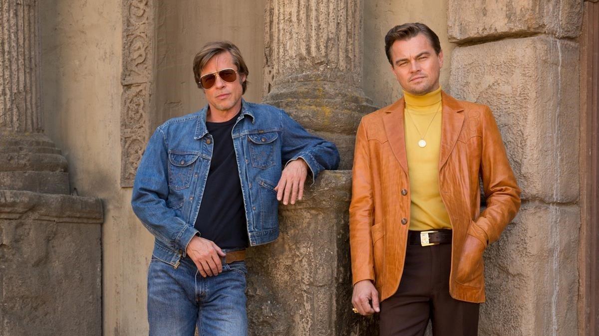 Brad Pitt y Leonardo DiCaprio, en la última película de Quentin Tarantino, 'Once Upon a Time in Hollywood'.