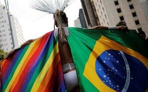 Miembro del movimiento gay en Brasil.