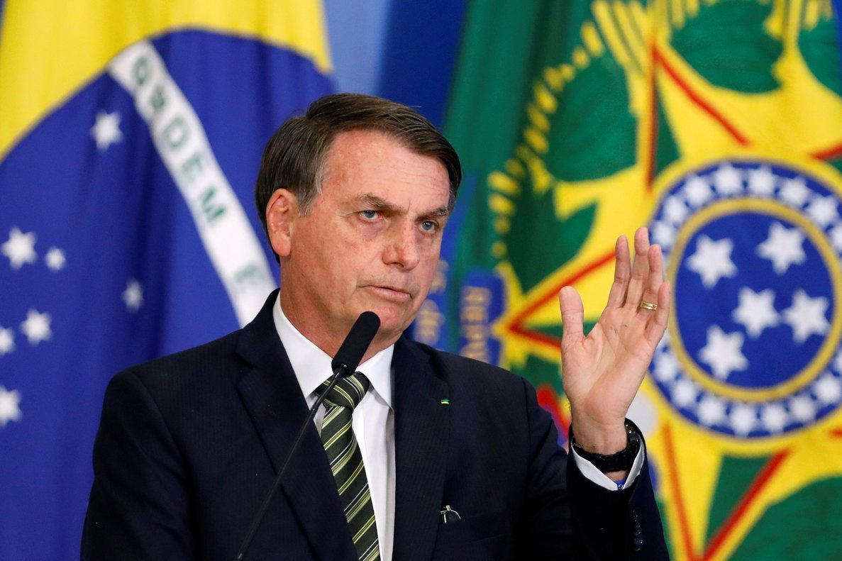 Brazil s President Jair Bolsonaro speaks during a review and modernization ceremony of occupational health and safety work at the Planalto Palace in Brasilia Brazil July 30 2019 REUTERS Adriano Machado