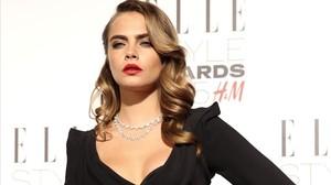 Cara Delevingne, en una gala de premios en febrero del 2015.
