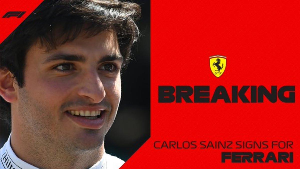 Ferrari oficializa el fichaje de Carlos Sainz
