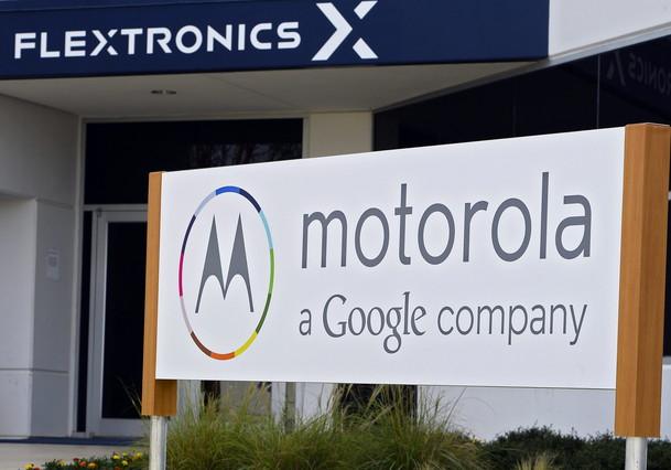 Cartell de la inauguració de la fàbrica de Motorola a Fort Worth (Estats Units).