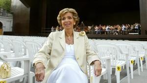Carmen Mateu, durante un ensayo de una actuación del Festival de Peralada en el2007.