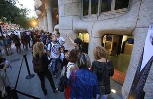 Colas para entrar en La Pedrera en la última edición de la Nit dels Museus.