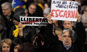 La concentración de Plaça Catalunya convocada por la ANC y Òmnium Cultural.