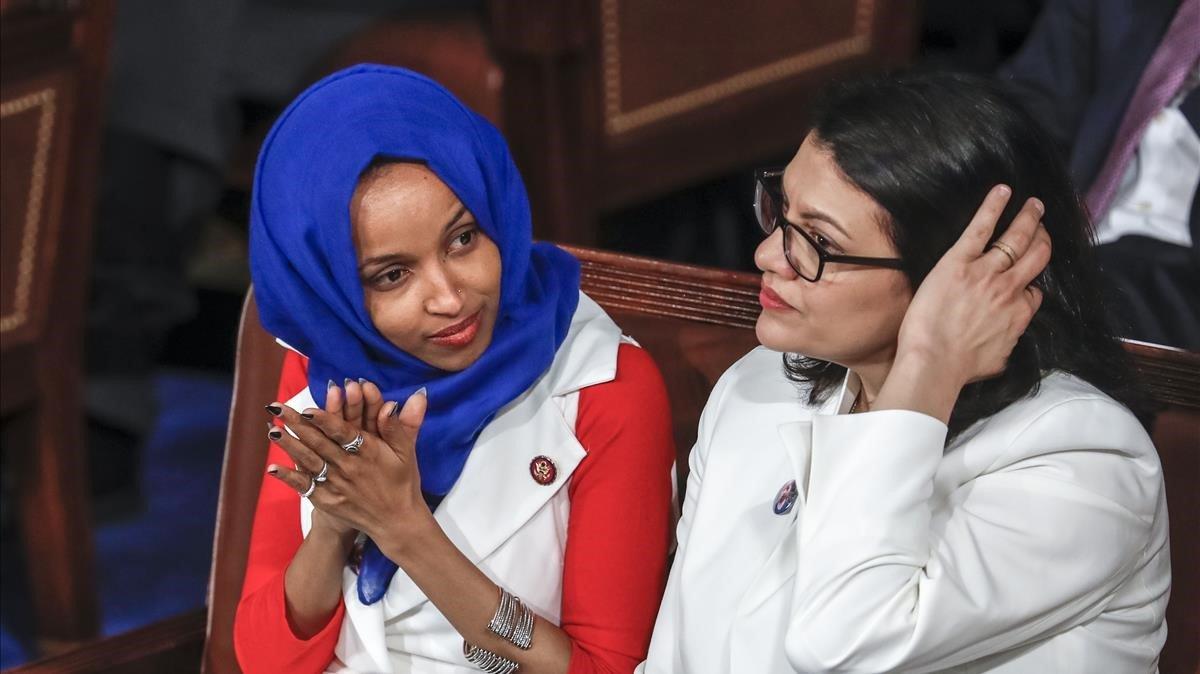 Ilhan Omar y Rashida Tlaib en el Congreso de EEUU.