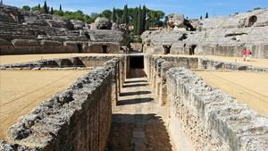 Anfiteatro romano de Itálica, en Santiponce (Sevilla), escenario de algunas escenas de Juego de tronos.
