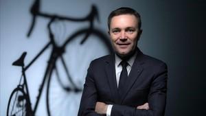 David Lappartient, presidente de la UCI, en una imagen del pasado noviembre