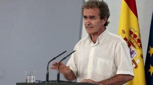 El director del Centro de Alertas y Emergencias Sanitarias, Fernando Simón, durante la rueda de prensa diaria sobre el coronavirus, el 8 de junio en la Moncloa.