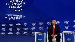 Donald Trump, en la cumbre de Davos del 2018.