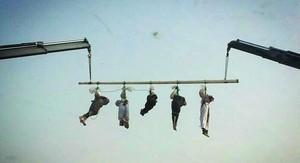 Imagen de archivo en la que se muestra la ejecución de cinco yemenís en Arabia Saudí, en el 2013.