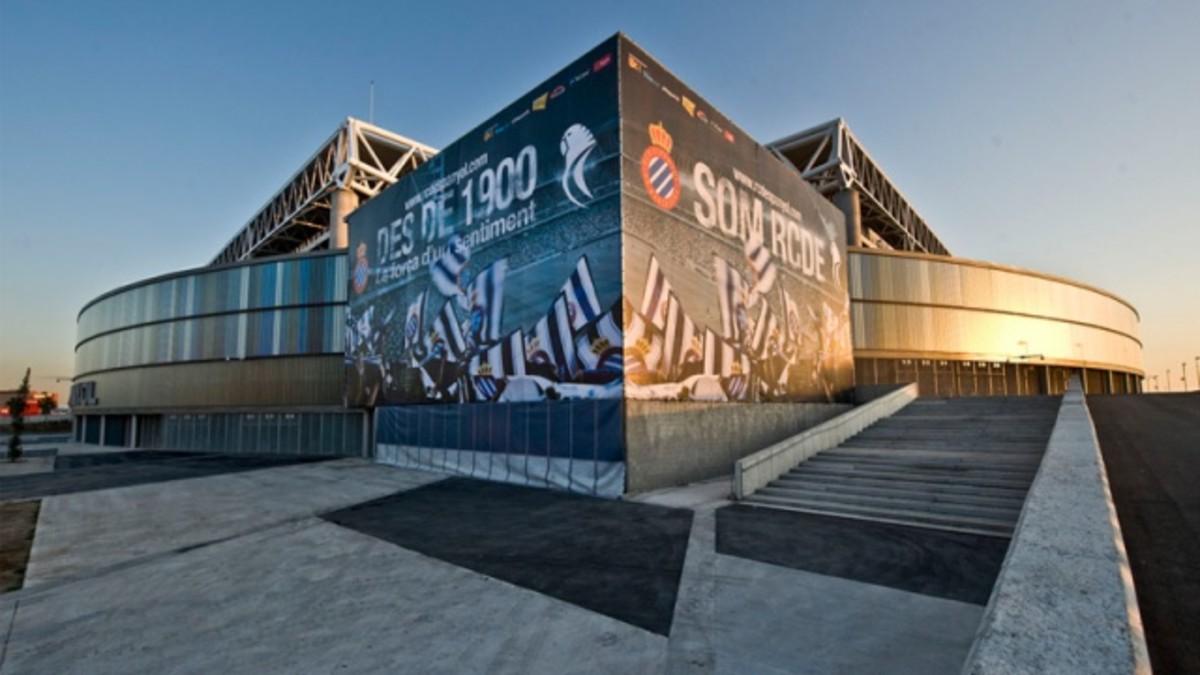 Estadio del RCD Espanyol en Cornellà.