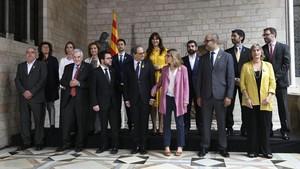 Torra promet treballar per la independència mentre decau el 155