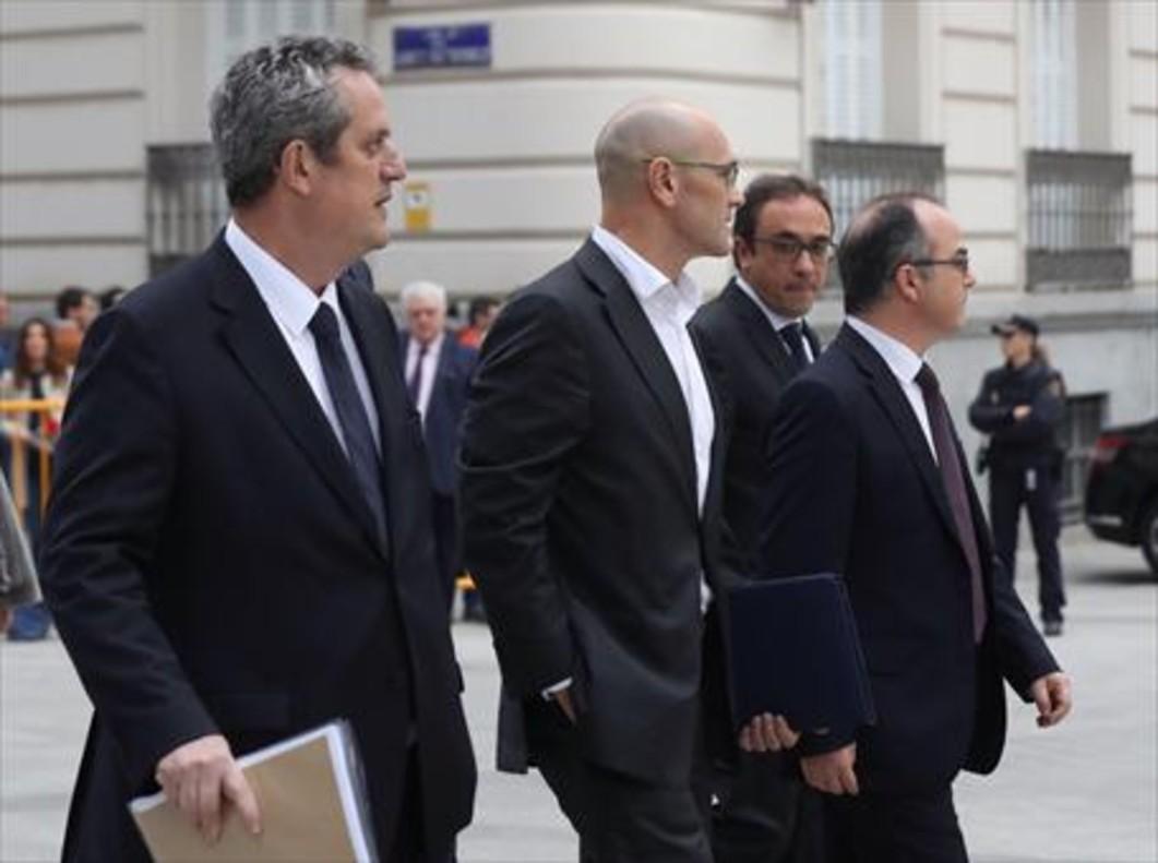 Forn, Romeva, Turull y Rull, a su llegada a la Audiencia Nacional el pasado 2 de noviembre.