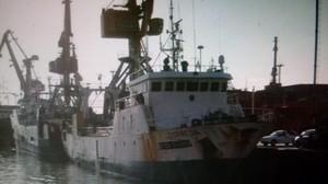 Fotografia cedida por la Armada de Argentina que muestra una vista general del buque pesquero espanol Dornera.