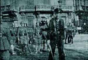 Fotografía del golpe del 19 de julio en Barcelona publicada en el diario Última Hora
