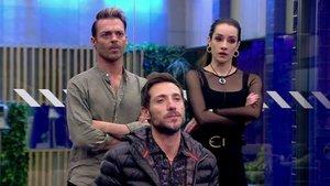 Hugo, Adara y Antonio David en 'GH VIP'.