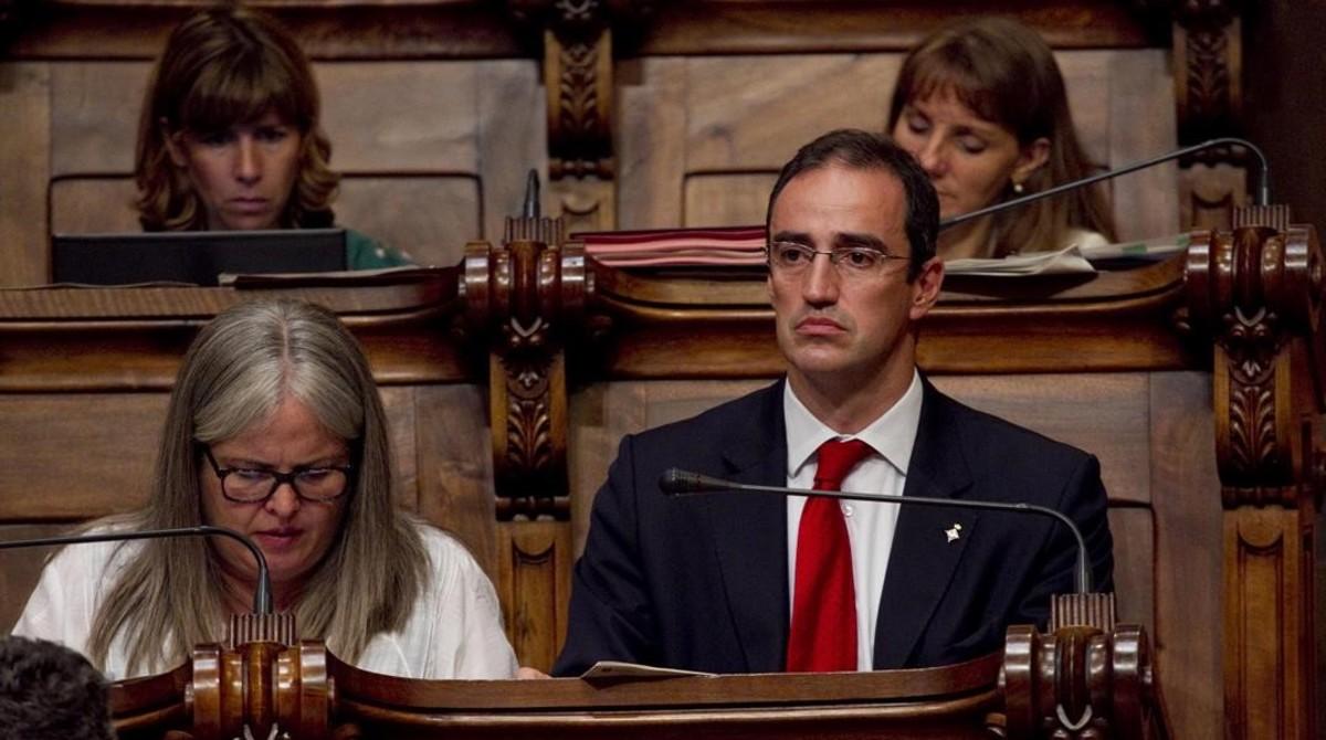 Antoni Vives, en un pleno municipal en el 2012.