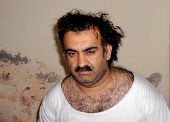 Imagen de Jalid Sheij Mohamed, considerado el cerebro de los atentados del 11-S, en marzo del 2003.
