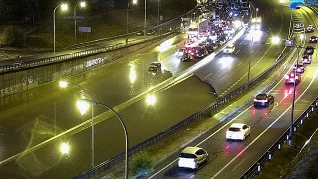 Imágenes de las inundaciones en Madrid de este lunes.