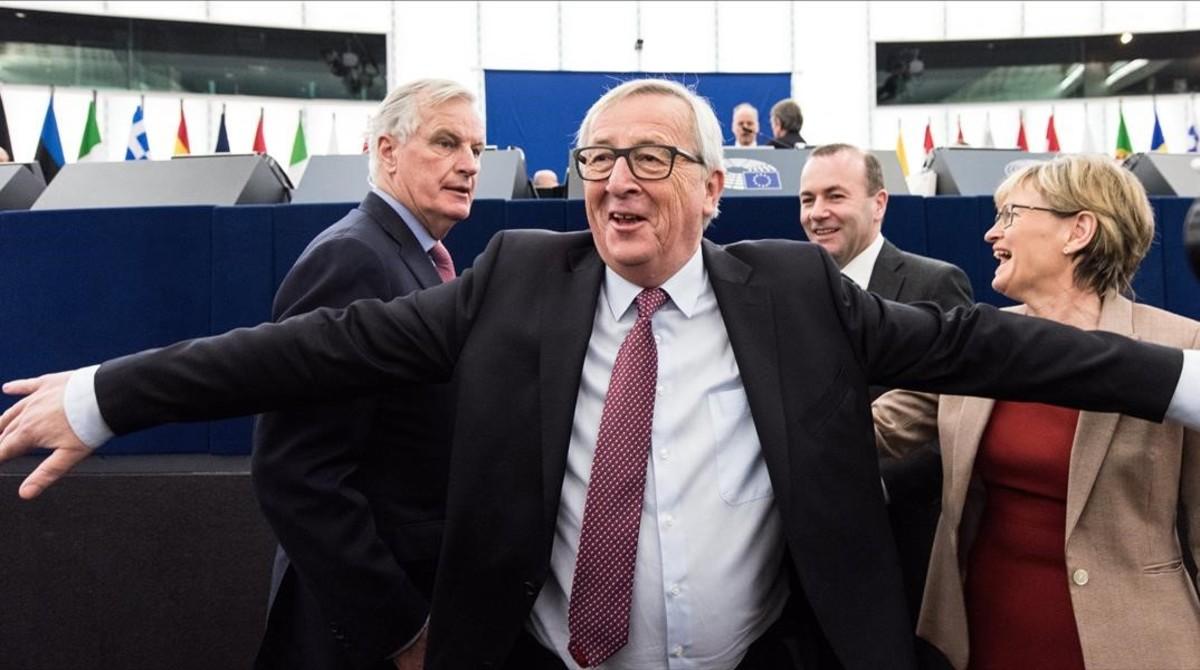Jean-Claude Juncker, en la sesión plenaria del Europarlamento.