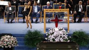 La actuación de Ariana Grande en el funeral de Aretha Franklin.