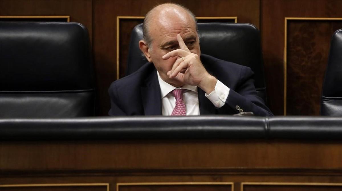 El ministro del Interior en funciones, Jorge Fernández Díaz, el pasado 27 de septiembre, en el Congreso.