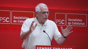 Josep Borrell, este sábado en Barcelona.