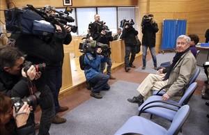 Jorge Verstrynge a su llegada al Juzgado de lo Penal 13 de Madrid, el pasado 24 de enero.