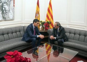 Sánchez i Torra segellen la seva aposta pel «diàleg»