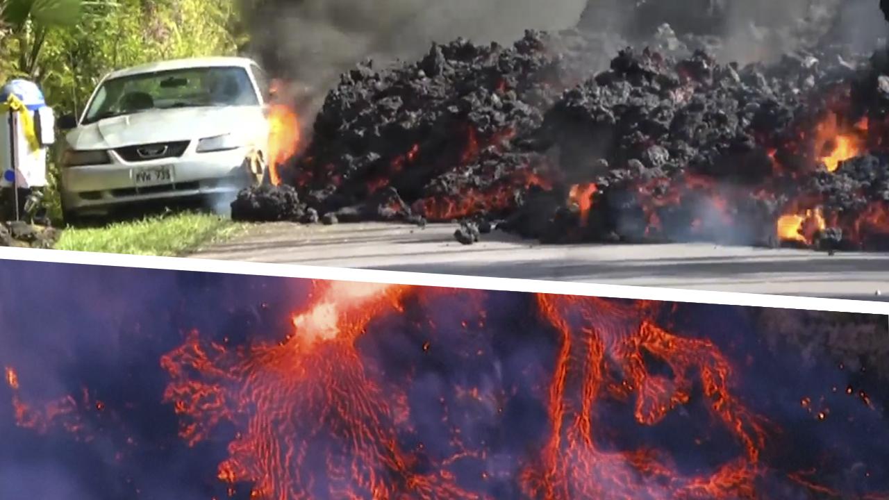 Lava hipnótica: Un coche engullido y otras magnéticas imágenes de la erupción en Hawaii