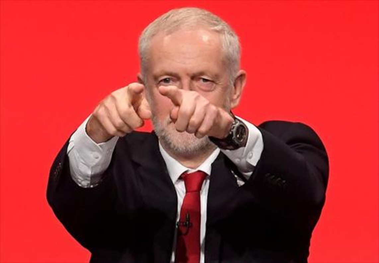 El líder laborista británico Jeremy Corbyn, ayer, en Brighton.
